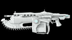 "This is 3D concept art for the ""Lancer"" used in the ""Gears Of War"" Franchise. I like the simplicity of the texture on the weapon, I think it gives the gun a very futuristic look which I really appriciate."