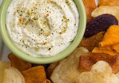 Enlightened Onion Dip -- a perfect Mrs. Dash recipe - mrsdash.com #saltsubstitute #nosalt #dip