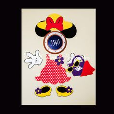 Going on a Disney Cruise?! Dress up your stateroom door with this adorable Beach Minnie Mouse Magnet Set!  The set includes: 1 Polka dot
