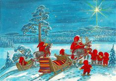 Christmas In Europe, Christmas Time, Christmas Cards, Merry Christmas, Xmas, Elves, Scandinavian, Fairy Tales, Roots