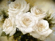 White Flower Canvas Paintings Google Search