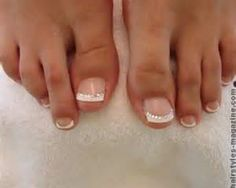 Wedding Nails and Toes www.fairygodmothersbridal.com