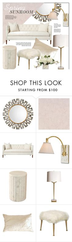 Spring Sunroom by kathykuohome on Polyvore featuring interior, interiors, interior design, home, home decor, interior decorating, livingroom, Spring, Home and homeset