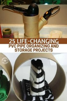 25 Life-Changing PVC Pipe Organizing and Storage Projects - Those that visit SHTFPreparedness.com know that I love PVC and it's many uses, and you should too. If you are an organized person, you will love these 25 tips for organizing and storage using PVC. #pvc #pvcproject #diy #organization #storage #organizing