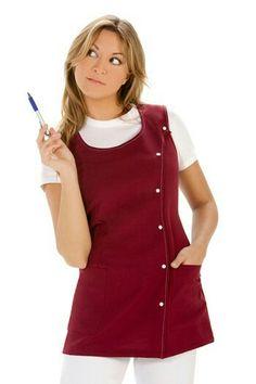 Beauty Salon Uniform Ideas, Beauty Uniforms, Spa Uniform, Teacher Apron, Jumper, Shirt Dress, Fabien Baron, Shirts, Outfits