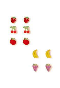 Fruit Salad Stud Set | FOREVER21 - 1000107903