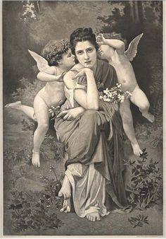 ❤ - Bouguereau Engraving