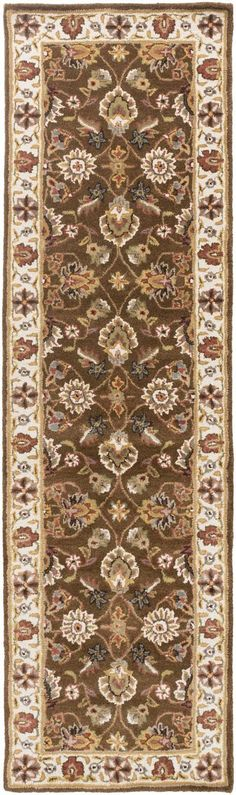 Middleton AWES-2045 Brown/Beige Traditional Premium Wool Rug