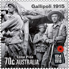 Марка: Gallipoli 1915 - Lone Pine (Австралия) (Centenary of World War I issue) Gallipoli) Mi:AU Triple Entente, Buy Postage Stamps, Gallipoli Campaign, Anzac Cove, Lone Pine, Old Stamps, World War One, Small Art, Wwi