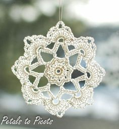 (4) Name: 'Crocheting : Grandma Jennie's Snowflake: Part 2.. Free pattern!