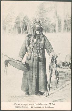 eurasian-shamanism:  Photo of a Buryat shaman from a Russian postcard series from the first decades of the 20th century