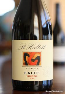 St Hallett Faith Shiraz - Spicy and Juicy. Seriously, it's really juicy and really spicy. 100% Shiraz from the Barossa. http://www.reversewinesnob.com/2013/08/st-hallett-faith-shiraz.html