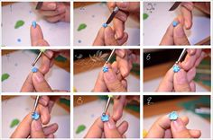 Forget Me Not - Polymer clay flower tutorial by Zubiju