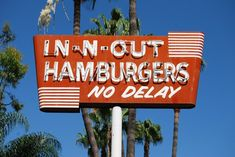 In -N-Out Hamburgers neon sign