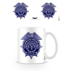 Taza escudo policia de arkham de Batman