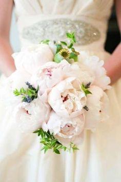 Ramos de novia con peonías: Fotos de las propuestas - Ramos de novia, diseño con peonías