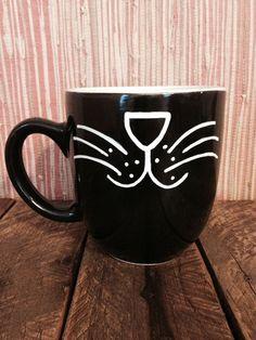 Black Cat mug by sarahmarie28 on Etsy