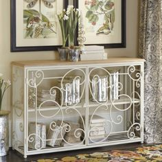 Ballard Designs D'Aurey Console in Rubbed Antique White $379