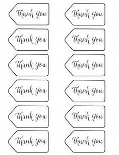 thank you tags - printable