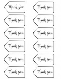 thank you tags - printable