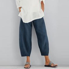 Women Cotton Pants Spring Summer Casual Pants – petalady Source by sabanekavand clothes over 50 Cotton Pants, Linen Pants, Loose Pants, Wide Leg Pants, Black Pants, Loose Fit, Style Casual, My Style, Mode Hippie