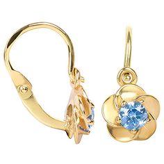Brilio Copii cercei floare cu cristale albastre 236001 00,954-1.00 g Cute Headphones, Jewelries, Drop Earrings, Bracelets, Gold, Ear Rings, Fragrance, Drop Earring, Bracelet