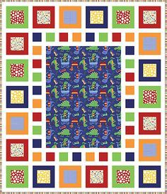 This could be so much fun!  Free Quilt Pattern - Dino-Mite Free Quilt Pattern - Fat Quarter Shop