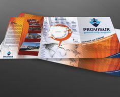 Carpeta Tríptico A4 con solapa - Parte Exterior - diseño para la empresa Provisur