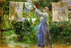 Berthe Morisot : La blanchisseuse 1881 - huile sur toile 46 x 67 cm - Ny Calsberg Glyptotek - Copenhague