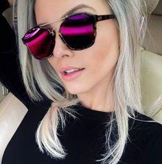 Rosamaria G Frangini Polarized Sunglasses, Cat Eye Sunglasses, Mirrored Sunglasses, Sunglasses Women, Trending Sunglasses, Dior Sunglasses, Specs Frames Women, New Girl, Sunnies