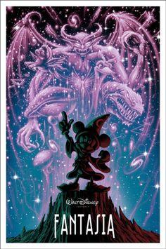Fantasia - Uma coleção de pôsters dos filmes da Disney. O trabalho fica por conta dos artistas da MondoCon, um estúdio que cria conceitos totalmente inovadores para HQs, desenhos, filmes e o que mais a cultura pop tiver para oferecer