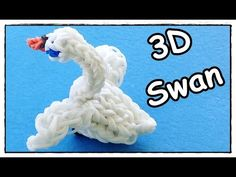 Rainbow Loom Animals: Swan Charm (3D) - How to Make with loom bands (Goose, Duck)