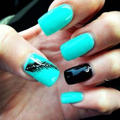 50 Creative Feather Nail Art Ideas