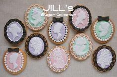 amazing cameo sugar cookies (icing/piping) Jill's Sugar Collection via Flickr.