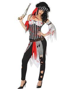 De engste Halloween kostuums zijn verkrijgbaar bij Vegaoo.nl! Bestel snel deze enge piraten outfit met bloed voor dames tegen de beste prijs!