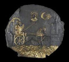 Plaque de Cybèle - argent doré - IIIème siècle avant JC - Musée National d'Afghanistan