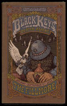Black Keys at the Filmore Poster