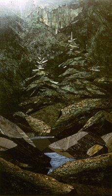 Spring - Florentine mosaic 350h700. Sayanogorsk 1996 Easel mosaic - Sergey Karlov