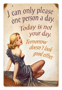 $35.97 Vintage Not Your Day Metal Sign
