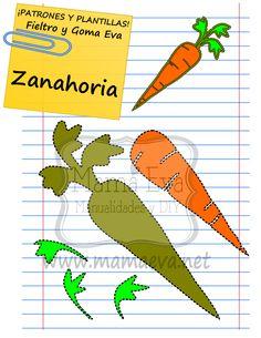 ¿A que mola mi zanahoria? Pues hemos hecho muchas más hortalizas porque nos lo han pedido en nuestra sección estrella: Pídenos la plantilla que buscas, de nuestra web www.mamaeva.net  Espero que os guste. ¡A recortar!