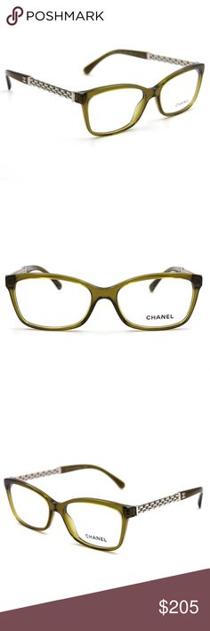 Chanel 3318 Light Green Eyeglasses 54mm In excellent condition, comes with Chanel case. LENS SIZE: 54mm ARM LENGTH: 140mm BRIDGE SIZE: 16mm CHANEL Accessories Glasses
