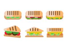Panini Sandwich Flat Vector Set 137787 -  A set of 6 flat panini sandwich icons for free use. Enjoy!  - https://www.welovesolo.com/panini-sandwich-flat-vector-set-3/?utm_source=PN&utm_medium=weloveso80%40gmail.com&utm_campaign=SNAP%2Bfrom%2BWeLoveSoLo
