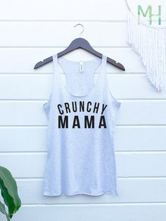 Crunchy Mama Tank. Hippie Natural. Cloth Diaper Breastfeeding
