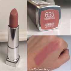 Maybelline Color Sensational Creamy Mattes in Daringly Nude. Follow my instagram @mellyfmakeup