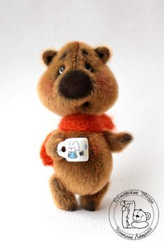 Mini Bear Bo By Natalia Leschenko - Bear Bo - a charming little fat man, a lover of tea with sweets. He will not let you be bored, give a lot of fun and even give your warm scarf, if you will be cold!:)Created a whole new pattern, I developed a new form and image for him. Corresponds technology Teddy - all connection...