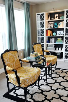 Statement chairs - need something like these in the living room