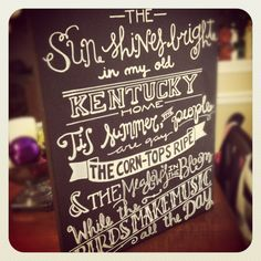 University of Kentucky fight song!!  Great craft idea to spiff up your room!
