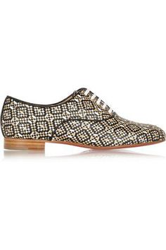 Fred metallic woven leather brogues #formalshoes #formal #covetme #christianlouboutin