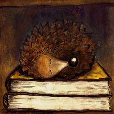 Sleepy Hedgehog by Umwelt on Etsy