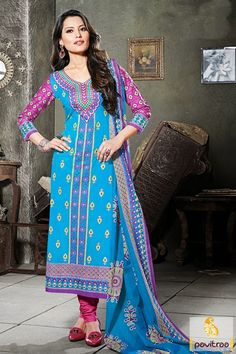Make the most elegant style in this fashionable light blue color cotton chiffon casual salwar suit online shopping at cheapest price in India. Purchase Now! #salwarkameez, #cottonsalwarkameez, #casualsalwarlameez, #printedsalwarkameez, #indiansalwarkameez, #churidarsalwarkameez, #discountoffer, #pavitraafashion, #utsavfashion, #embroiderysalwarsuit,  #georgettesalwarsuit, #silksalwarkameez, #straightsalwarsuit http://www.pavitraa.in/store/casual-dress/ callus:+91-7698234040